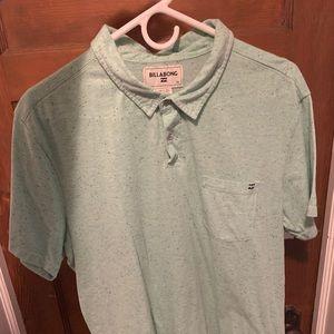 Billabong linen Polo shirt size Large